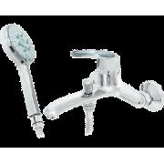Смеситель для ванны удлиненный излив Karat серебро