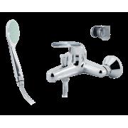 Смеситель для ванны с литым изливом Karat серебро