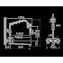 Душевая система с жесткой стойкой и плоским изливом Кайзер