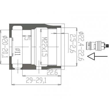 Кран-букса керамическая 20 шл. Flühs Варион