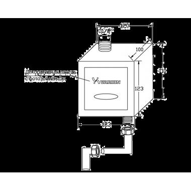 Кран для писсуара встроенный антивандальный