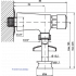 Кран для писсуара нажимной порционный горизонтальный
