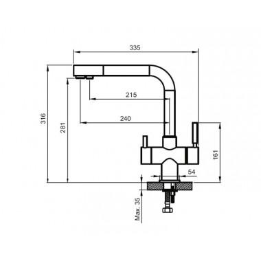 Смеситель для кухни AHTI KM813015