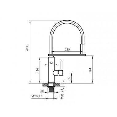 Смеситель для кухни AHTI KM833020